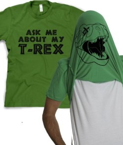 Mens-Ask-Me-about-My-T-Rex-T-Shirt-Tee-Funny-Graphic-Tee-Green-Size-M-0