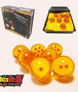 New-DragonBall-Z-Stars-Crystal-Glass-Ball-7pcs-with-Gift-Box-0