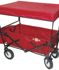 On-The-Edge-900124-Red-Folding-Utility-Wagon-With-Handle-0