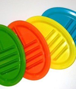 Taco-Plate-Set-of-4-Greenblueorangeyellow-0