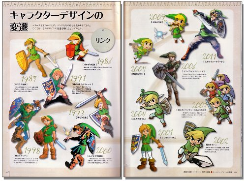 The Legend of Zelda 25th Anniversary Hyrule Historia Art