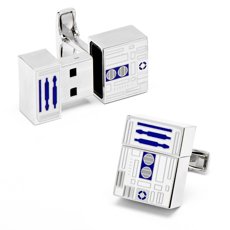 only cool thangs star wars r2d2 usb flash drive cufflinks. Black Bedroom Furniture Sets. Home Design Ideas