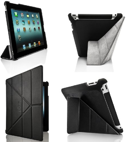 Pong Ipad 3 And 4 Leather Like 5 Position Case Cover With Internal